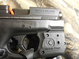 "Smith & Wesson, M&P 40 Shield M2.0, GREEN LASER & LIGHT, 40 S&W,3.1"" Barrel, 6+1 & 7+1 RD. MAGAZINES,Black Armornite Stainless Steel Slid, NE - 7 of 19"