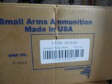ARMSCOR,22TCM9RAMMO,39 GR, J.H.P. 500 ROUND BOX,BRASSCASES,(NOT THE SAME AS 22TCM)2,000 F.P.S.ALL NEW IN BOX