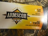 ARMSCOR,22TCM9RAMMO,39 GR, J.H.P. 500 ROUND BOX,BRASSCASES,(NOT THE SAME AS 22TCM)2,000 F.P.S.ALL NEW IN BOX - 10 of 22