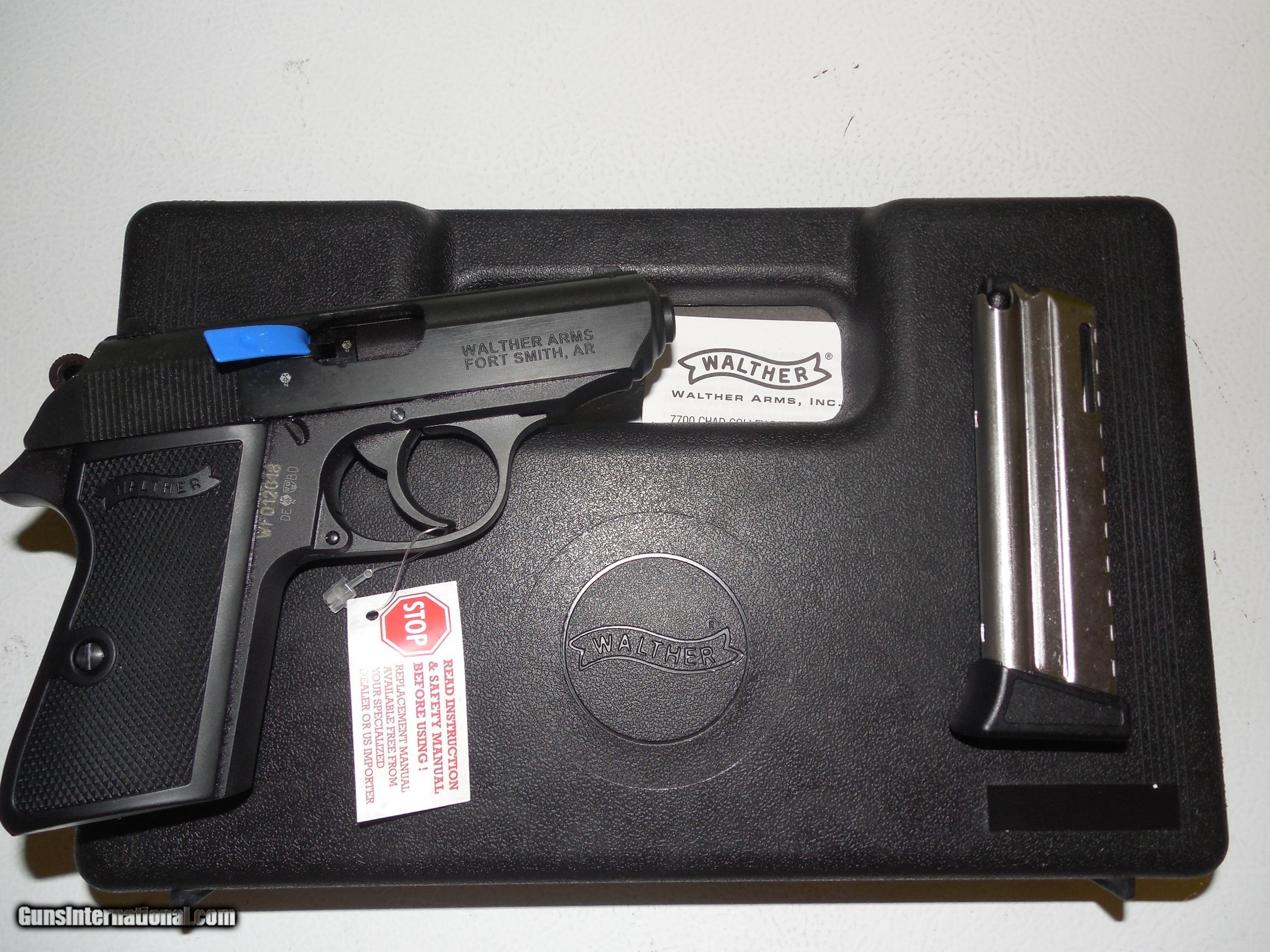 WALTHER PPK/S 22 L R  BLACK MARRE, 10 + 1 ROUND MAGAZINE