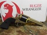 "Ruger2004WranglerRevolver,22 LR.4.62"" BARREL,6RoundBlackCheckeredGrip,BurntBronzeCerakote, FACTORYNEWNIBOX.. - 2 of 21"