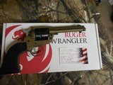 "Ruger2004WranglerRevolver,22 LR.4.62"" BARREL,6RoundBlackCheckeredGrip,BurntBronzeCerakote, FACTORYNEWNIBOX.. - 14 of 21"