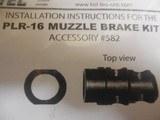 """MuzzleBrakeKit,FORKel-Tec,PLR16-582,PLR-16,1/2""""-28tpiBlackSteel, - 6 of 12"""