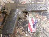 "AUTOORDNANCE,1911 The General 45 ACP Single 5"" 7+1 Black Army Eagle Engraved Grip Patriot Brown Cerakote Steel Slide FACTORY NEW IN BOX - 6 of 26"