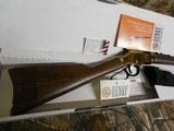 """Henry H004, Golden Boy Lever 22 Short/Long/Long Rifle, 20"""" BARREL, 16 LR / 21 Short,American Walnut, StkBrassReceiver / Blued Barrel, NEW I - 3 of 19"""