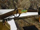 """Henry H004, Golden Boy Lever 22 Short/Long/Long Rifle, 20"""" BARREL, 16 LR / 21 Short,American Walnut, StkBrassReceiver / Blued Barrel, NEW I - 7 of 19"""