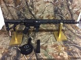 """AR-15 / AR-9 PSA PA-X9 Lower with FM9C 16"""" Colt Style Upper with 15"""" M-Lok Rail and Muzzle Break and 17 Round Glock Magazine - 2 of 4"""