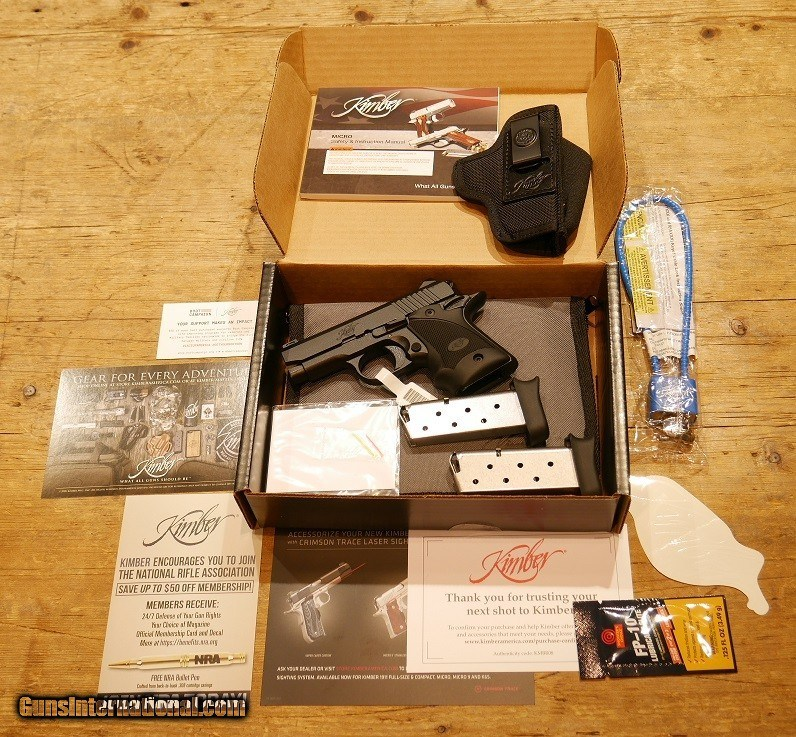 Kimber Micro 9 SHOT Show Special 9mm w/Holster and 2 mags! for sale