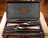 Cased Pair of Piotti P.H.E.E. Monte Carlo 12ga 4-Barrel Set