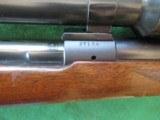 WINCHESTER M70 PRE WAR .22 HORNET. 4X GERMAN OIGEE SCOPE - 7 of 11