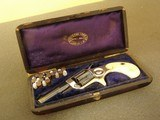 CASED BLUE & NICKEL IVORY GRIPPED COLT NEW LINE .22 REVOLVER