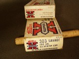 WINCHESTER SUPER X .303 SAVAGE 190 GR. (2) BOXES SILVER TIP - 3 of 7