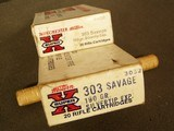 WINCHESTER SUPER X .303 SAVAGE 190 GR. (2) BOXES SILVER TIP - 2 of 7