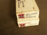 WINCHESTER SUPER X .303 SAVAGE 190 GR. (2) BOXES SILVER TIP - 1 of 7