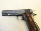 Colt Post War .38 Super Fat Barrel mfg. 1950- Beautiful Condition with Rare Red Grips - 2 of 9