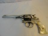 Pre War Factory NickelM&P Smith Wesson HE .38 spl.Pearls Model of 1905 - 2 of 10