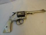 Pre War Factory NickelM&P Smith Wesson HE .38 spl.Pearls Model of 1905 - 1 of 10
