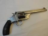 Very Fine Smith & Wesson New Model Number 3 SA Target 38-44 Nickel - 1 of 7