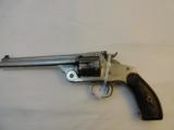 Very Fine Smith & Wesson New Model Number 3 SA Target 38-44 Nickel - 2 of 7