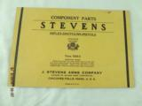 7 Stevens Parts List Catalogs from 1920-30's - 6 of 8