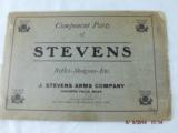 7 Stevens Parts List Catalogs from 1920-30's - 8 of 8