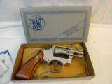 Scarce Nickel MIB Smith Wesson Model 12-3 Nickel Airweight - 2 of 14