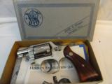 Scarce Nickel MIB Smith Wesson Model 12-3 Nickel Airweight - 13 of 14