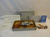 Scarce Nickel MIB Smith Wesson Model 12-3 Nickel Airweight - 1 of 14