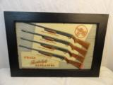 Fine 1950's IthacaFeatherweight Repeaters Advertising Sign