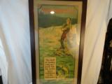 Incredible Winchester 1920's Framed Fishing Poster Full Color - 2 of 5