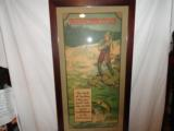 Incredible Winchester 1920's Framed Fishing Poster Full Color - 5 of 5