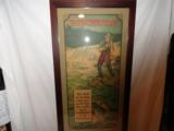 Incredible Winchester 1920's Framed Fishing Poster Full Color - 4 of 5