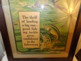 Incredible Winchester 1920's Framed Fishing Poster Full Color - 3 of 5