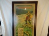 Incredible Winchester 1920's Framed Fishing Poster Full Color - 1 of 5