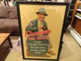 Large Framed 1937 Skeet Team Granger Die Cut Cardboard Advertising - 1 of 4