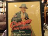 Large Framed 1937 Skeet Team Granger Die Cut Cardboard Advertising - 2 of 4