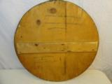 Fine 1958 German Hunting Sign,Wood with Paper - 2 of 2