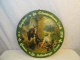 Fine 1958 German Hunting Sign,Wood with Paper - 1 of 2