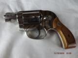 Boxed Smith & Wesson Model 38 Nickel Hammerless - 3 of 9
