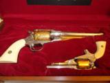 Cased Set of Engraved Remington 1858 & Pocket Model - 2 of 7