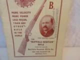 Original Buffalo Newton Rifle Catalog - 2 of 3