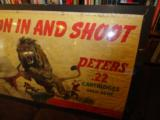 Fine 1940's Canvas Peters Dupont Advertising Banner - 4 of 5