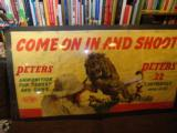Fine 1940's Canvas Peters Dupont Advertising Banner - 1 of 5