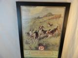 1927 Peters Cartridge Company Framed Original Calendar- 3 of 4