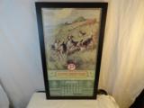 1927 Peters Cartridge Company Framed Original Calendar- 1 of 4