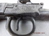 London marked Steel frame Flintlock pistol - 7 of 14