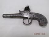 London marked Steel frame Flintlock pistol - 1 of 14