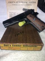 Colt 1911 Combat Commander .45 All Steel -1972