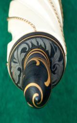 Michael Viet. LaSalle, Illinois. Gold-Inlaid Custom Dagger - 5 of 9