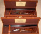 Flli. Rizzini --- Model R1-E Sidelock Ejector --- Matched Consecutive Pair --- 12 Gauge, 2 3/4